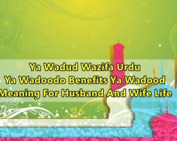 Ya Wadud Wazifa Urdu Ya Wadoodo Benefits Ya Wadood Meaning For Husband And Wife Life